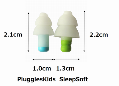 pluggies,サイズ,耳栓,比較